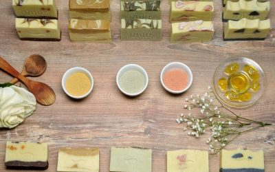 Old fashioned handmade natural soaps